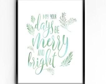 wall art printable, art print, wall decor, home decor, printable art, instant download, holiday, christmas, typography, watercolor, quotes