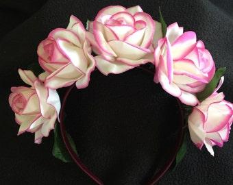 Pink rim roses