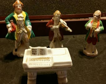 Occupied Japan musical trio figurines