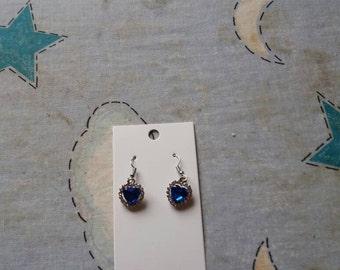 Heart of the Ocean Crystal Earrings