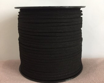 black faux suede cord, DIY Cord Supplies, suede cord for necklace making, bracelet suede cord,10meters suede cord, faux leather cord