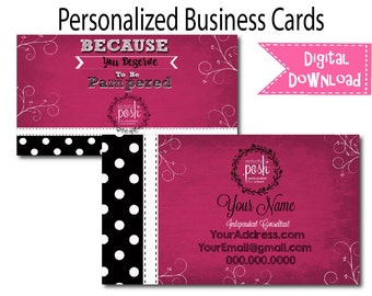 Perfectly Posh Business Cards | Card | Direct Marketing | Digital Download | Printable | Card 007