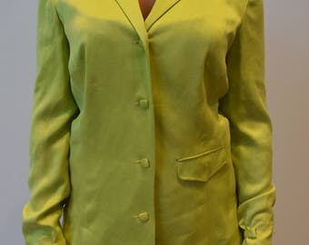 Silky Lime green Blouse