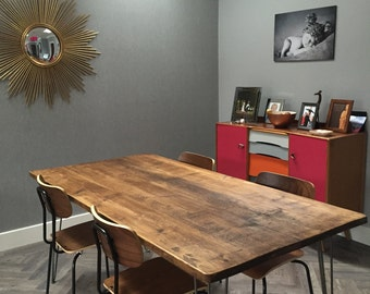Hairpin Dining Table - Vintage / Retro / Industrial