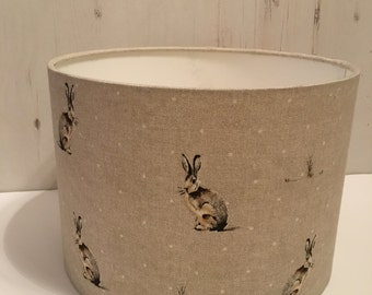 20cm 30cm Drum Table Lampshade Hartly Hare Fryett Handmade