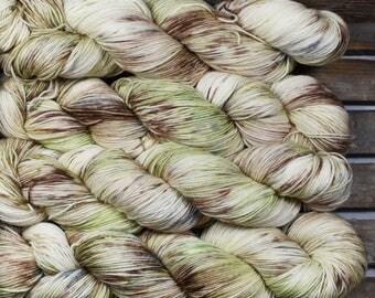 "Sock Yarn - ""Woodland"" - Merino / Nylon - Hand Dyed -  100g"