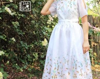 Ariel embroidered hanbok dress
