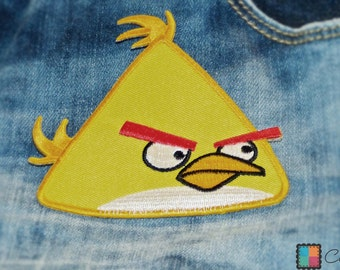 Angry birds Maching Bird yellow yellow angry bird game figure patch - 10.3 x 9.5 cm - patch application application applique bow pictures