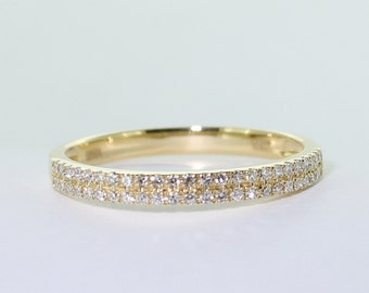 18ct yellow gold and 48 diamond wedding band  solid gold Certified FGAA