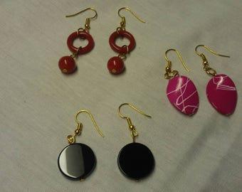 Gold Finished Dangle Earrings