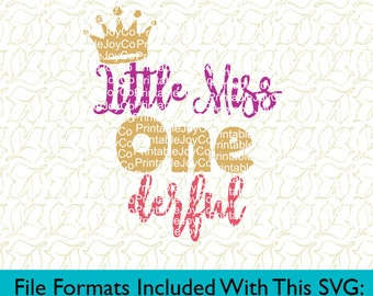 First Birthday SVG Birthday Girl SVG Little Miss Onederful Svg Png Dxf Eps Pdf Jpeg files for Cameo or Cricut Happy Birthday SVG