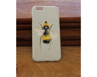 Bumblebee iPhone 6/6plus/7 case, bumblebee Plastic iPhone 6/6plus/7 case with Bee design, hand printed and can be personalised, Bee case