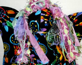 Dream Catcher Fairy Cloth Art Doll,  Fantasy Soft Sculpture