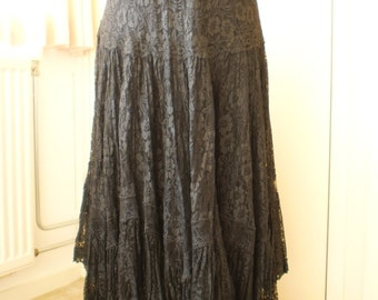 Wide Black Lace skirt