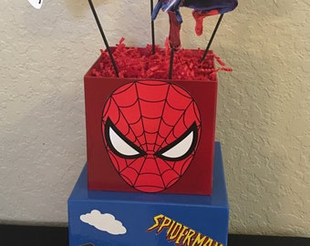 Spiderman - SuperHero Inspired Centerpiece - Any Superhero