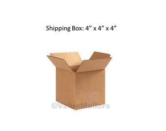 """N=4 (4""""x4""""x4"""") Cardboard Mailing Boxes - for Packing, Mailing, Shipping - Corrugated Boxes"""