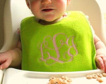 Baby Bib gift, Monogrammed, Newborn, New baby, toddle, baby boy, baby girl