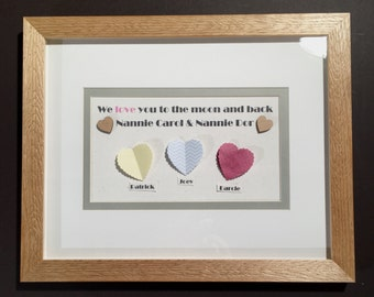 Personalised craft picture in professional bespoke hand crafted picture frame & mount