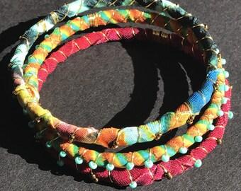 Multi colored stack bangles