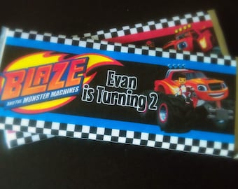 Blaze & The Monster Machines Candy Bar Wrappers