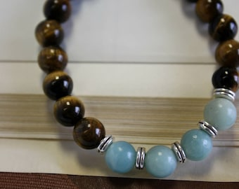 Beaded Tiger Bracelet with Jasper Stones