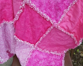Pink Baby Rag Quilt