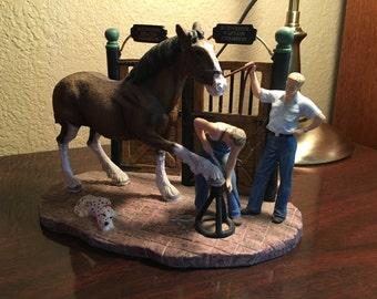 Handmade Clysedale Horse Sculpture