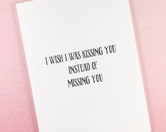 I miss you card/Long distance card/Boyfriend card/Girlfriend card/Husband card/Wife card/Love card