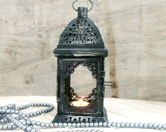 Black lantern Wedding Lantern Distressed Lantern Moroccan Candle Holder Rustic Wedding Decor Party Decor Centerpiece Party Decor