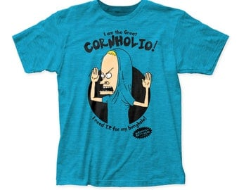 Beavis & Butt-Head The Great Cornholio 30/1 Cotton Tee (BEV01) Turquoise