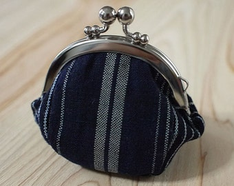 small clasp coin purse, 'gamaguchi', Japanise old fabric, cotton