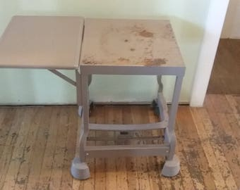 Perfect Vintage Typewriter Table, Metal Typewriter Table, Metal Rolling Table, Metal  End Table,