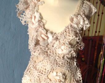 OOAK GYPSY hippie  boho wedding dress