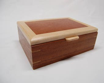 Wooden Ring Box - Brazilian Cherry and  Maple