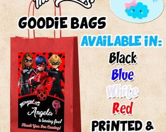 Miraculous Ladybug Bags, Miraculous Ladybug Candy Bags, Miraculous Ladybug Party Favor Bags