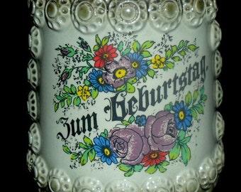 Vintage German Birthday Beer Stein~Beer Krug~Unique Birthday Stein~King Original~Hand Painted~German Birthday Gift~
