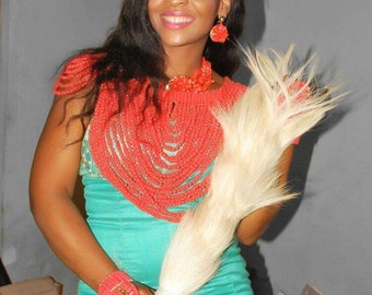 Horse Tail/ Traditional wedding Accessories/Igbo Bride/ Traditional Wedding Horse Tail