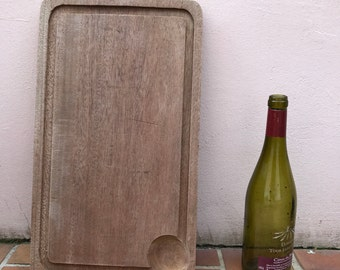 ANTIQUE VINTAGE FRENCH bread or chopping cutting board wood 1602171
