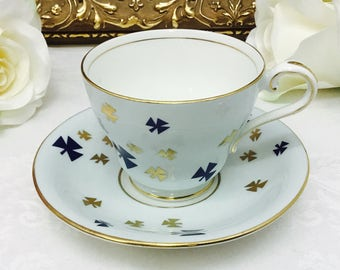 Mid century Aynsley teacup and saucer