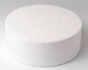 Dummy round Ø 25 cm, height 7 cm Polystyrene FUNCAKES Support
