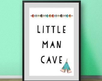 Nursery Wall Art, Little Man Cave Print, Boys Nursery Prints, Prints for Boys Room, Nursery Prints, Nursery Art, Nursery Wall Art Prints