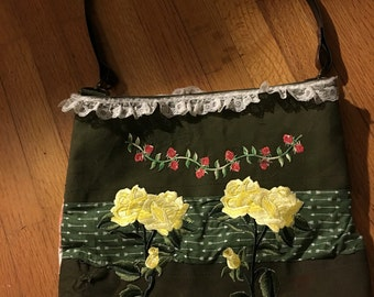 Recycled Military Duffel Bag converted to Large Tote