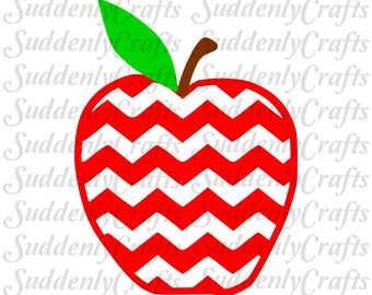 Chevron Apples Set 2 SVG