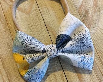 Floral bow| baby girl headband | newborn headband | headband | baby bow | newborn bow | bow | baby shower gift | accessories