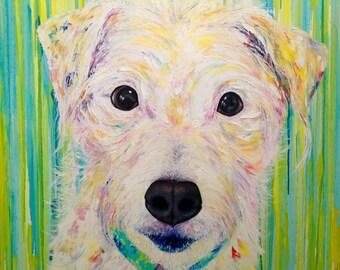 Dog Custom Portrait Canvas Oil Pet Portrait Pet Painting From Photo Custom Pet Portrait Oil Art Anniversary Gift Custom Animal Painting