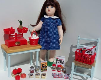 Grocery set for 18 inch dolls