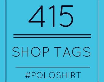 SEO Hilfe  - Liste mit  415 unterschiedliche Etsy Shop Tags für Poloshirt - Shop Tags - SEO für Etsy - Etsy SEO - Etsy Shop Tags