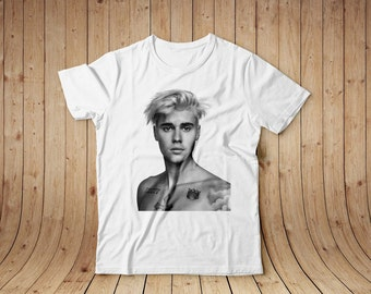 Justin Bieber white shirt, cotton, all sizes