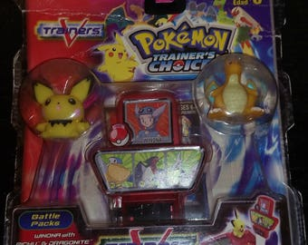 Vintage New pokemon trainers battle packs Pichu & Dragonite