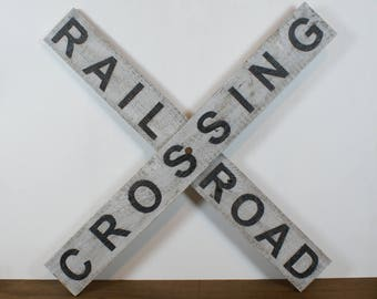Rail traffic sign American